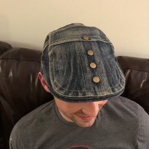62f2b861067 Accessories - Denim jean   brass studded newsboy   cabbie hat